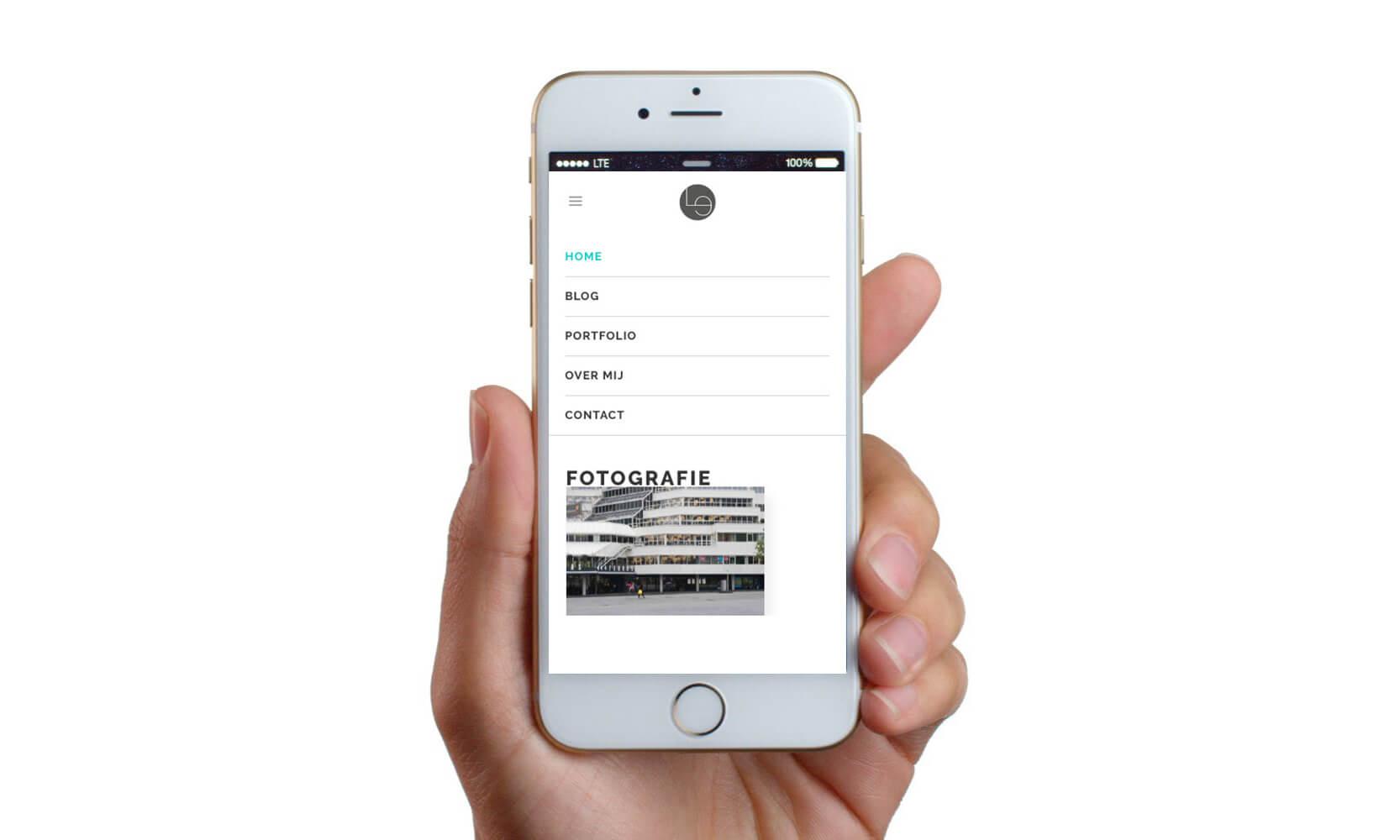 Lauraemma portfolio op mobiel responsive