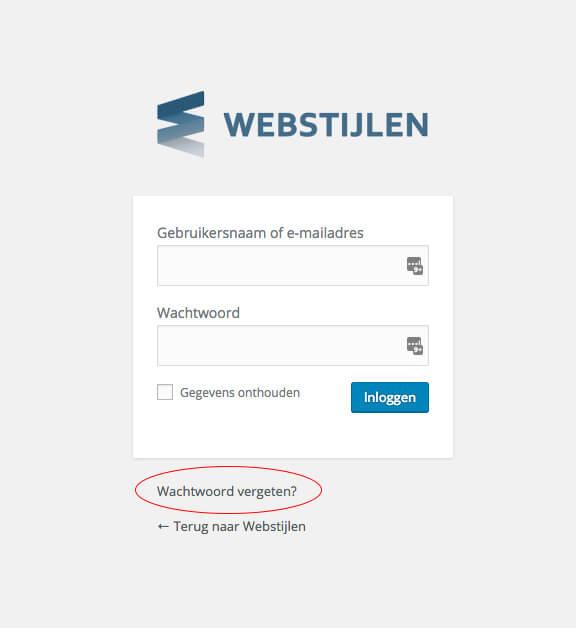 Wachtwoord vergeten Wordpress